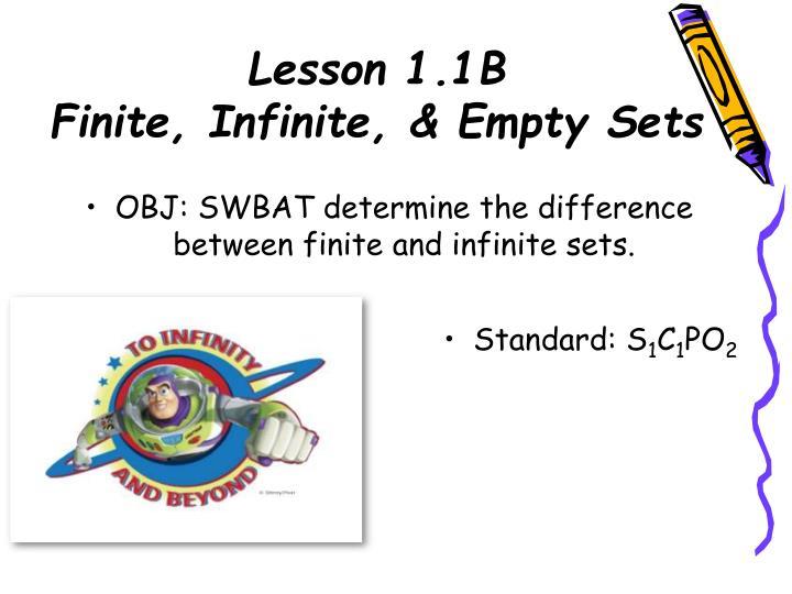 Lesson 1.1B