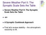 severe weather part ii the synoptic scale sets the table1