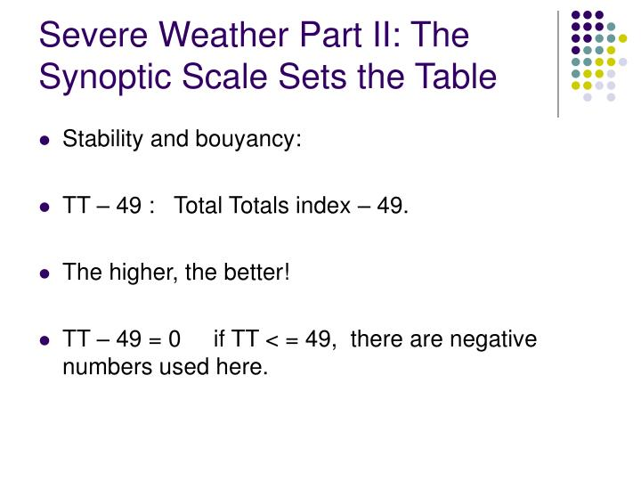 Severe Weather Part II: The Synoptic Scale Sets the Table