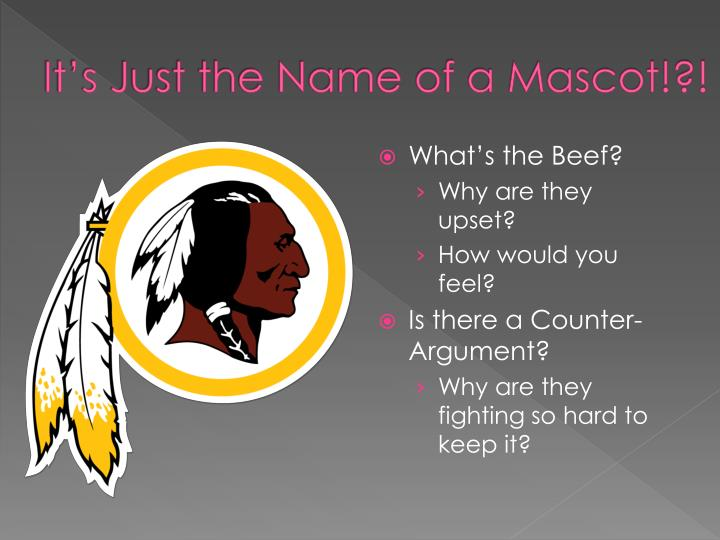 It's Just the Name of a Mascot!?!
