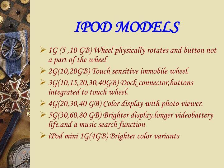 IPOD MODELS