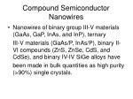 compound semiconductor nanowires