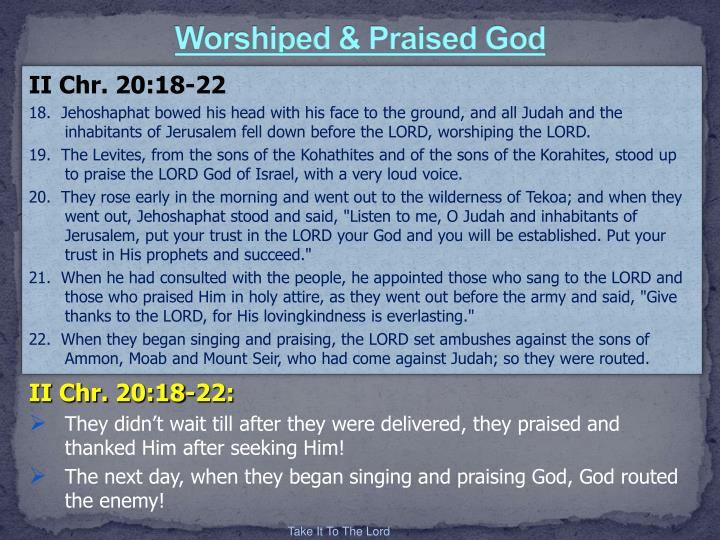 Worshiped