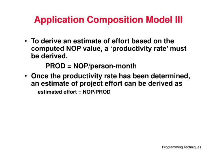 Application Composition Model III