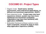 cocomo 81 project types