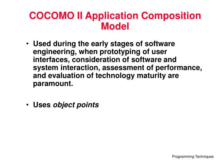 COCOMO II Application Composition Model