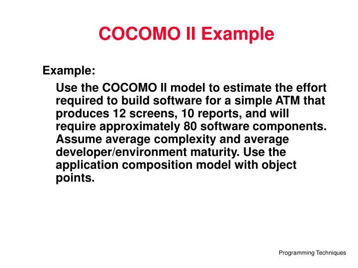 COCOMO II Example
