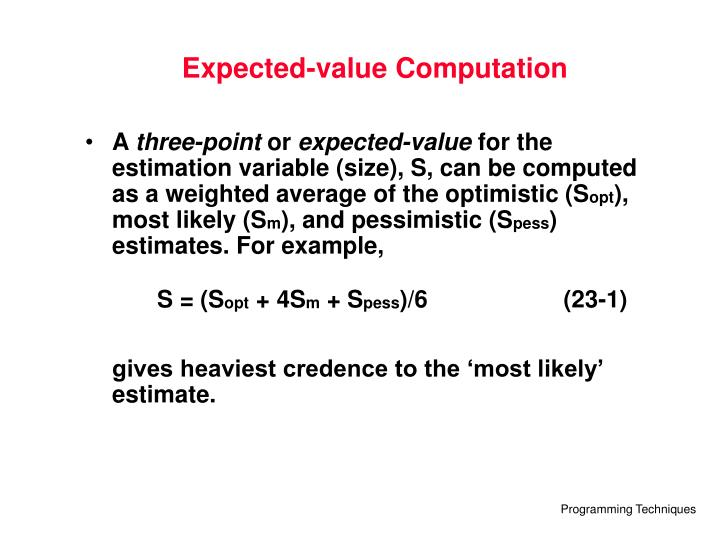 Expected-value Computation
