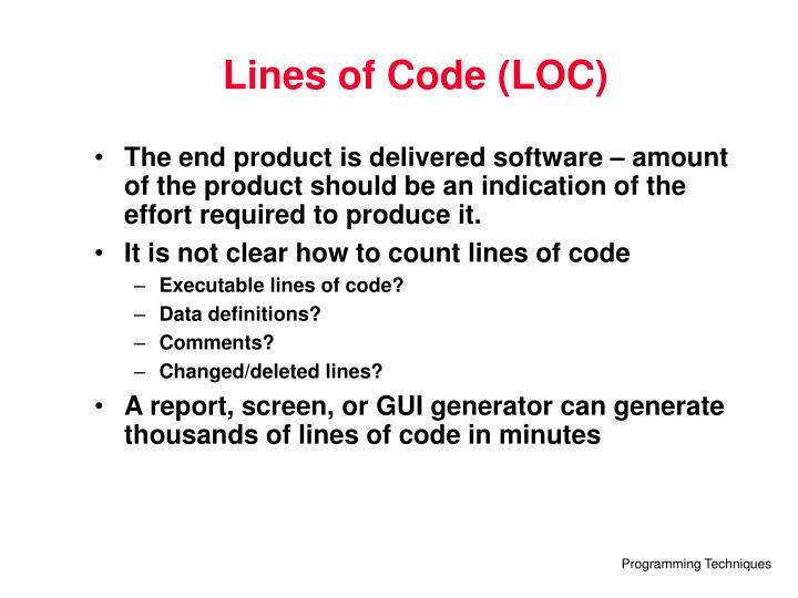 Lines of Code (LOC)
