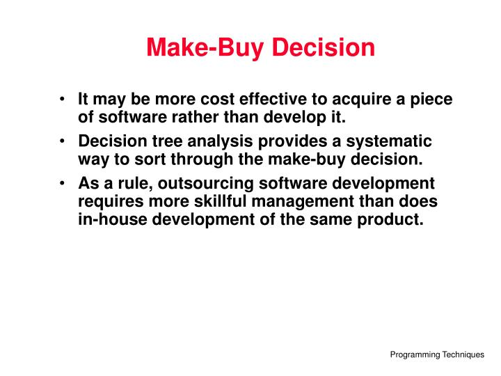 Make-Buy Decision