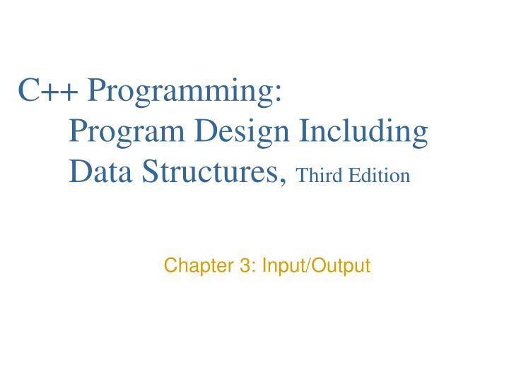 C programming program design including data structures third edition