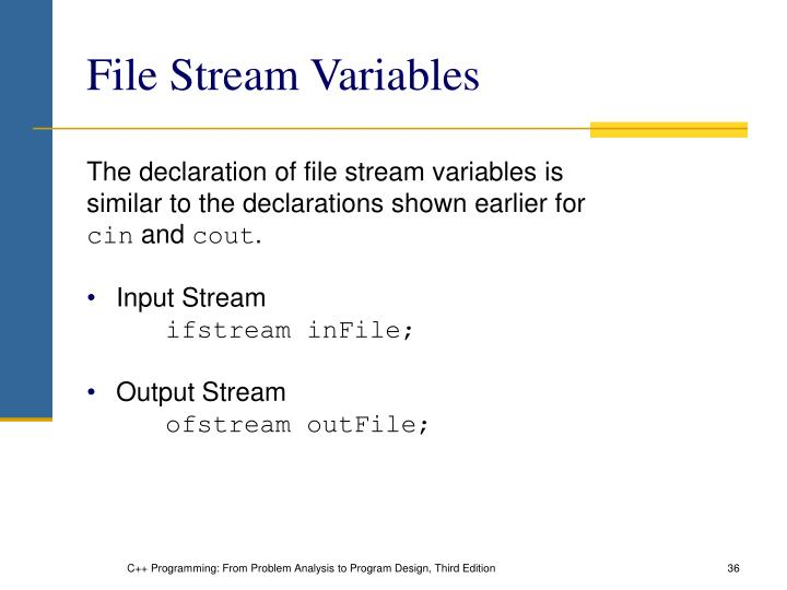 File Stream Variables