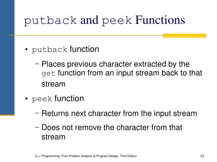 putback