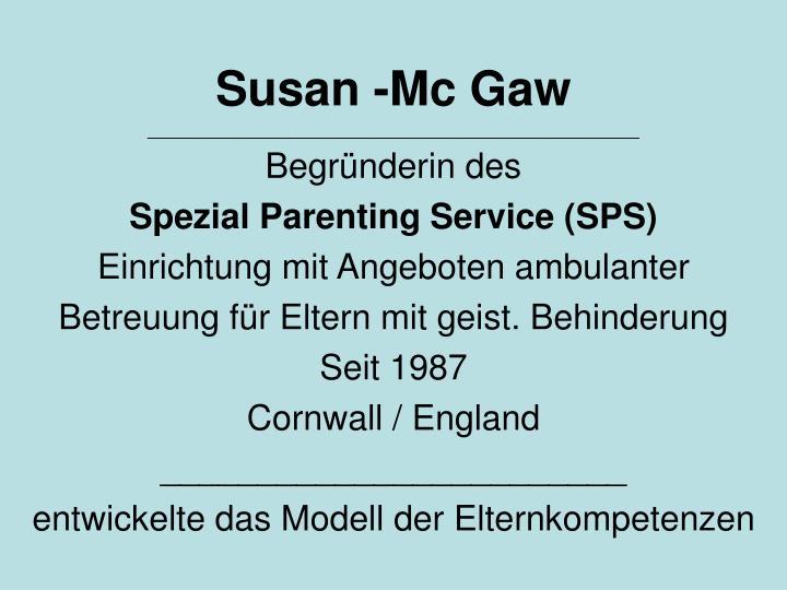 Susan -Mc Gaw