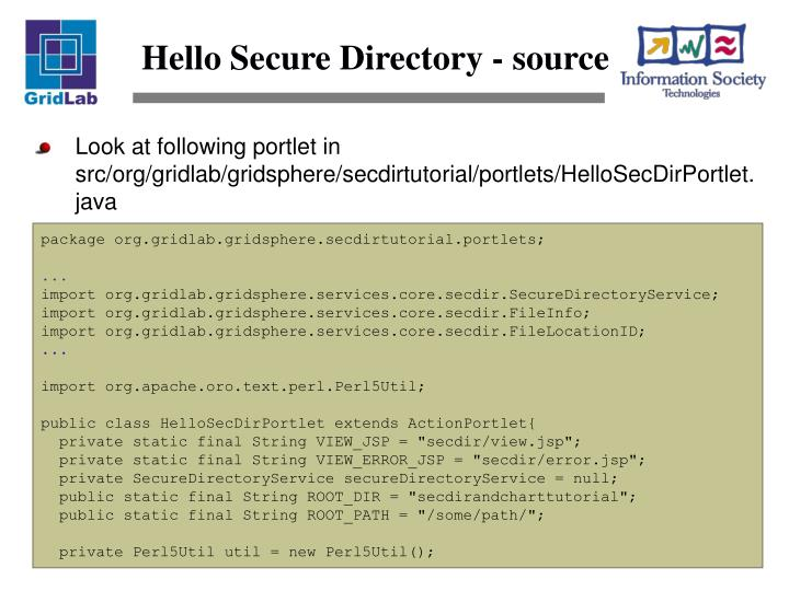Hello Secure Directory