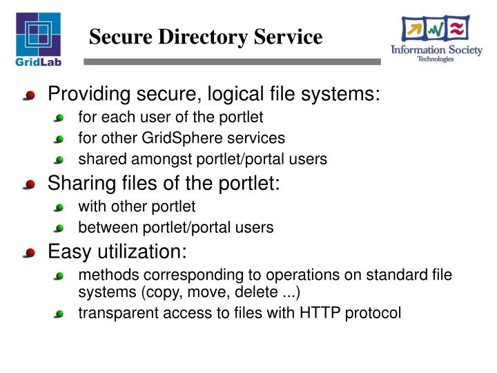 Secure Directory Service