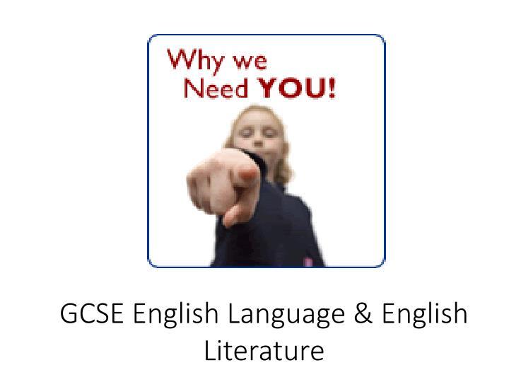 GCSE English Language & English Literature