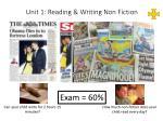 unit 1 reading writing non fiction