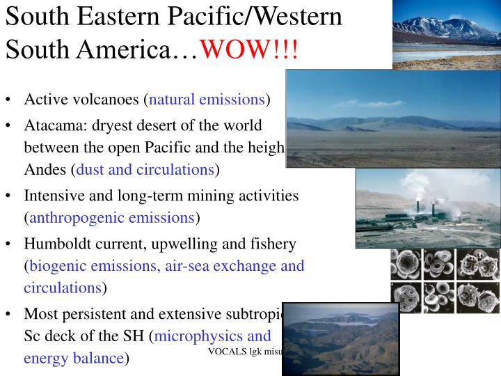 South Eastern Pacific/Western South America…