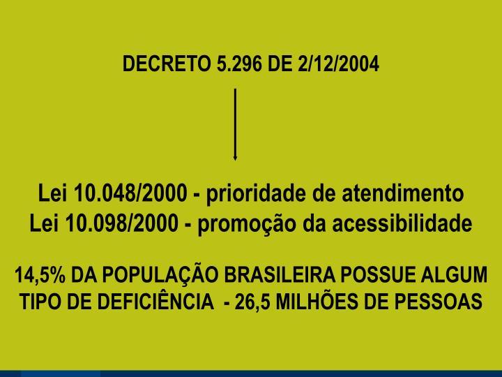 DECRETO 5.296 DE 2/12/2004