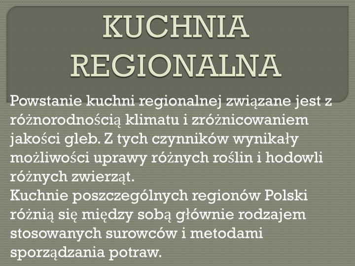 KUCHNIA REGIONALNA
