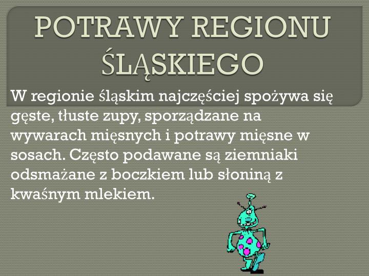 POTRAWY REGIONU ŚLĄSKIEGO