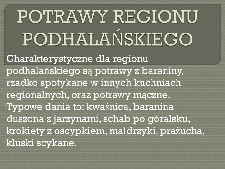 POTRAWY REGIONU PODHALAŃSKIEGO
