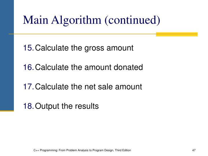 Main Algorithm (continued)