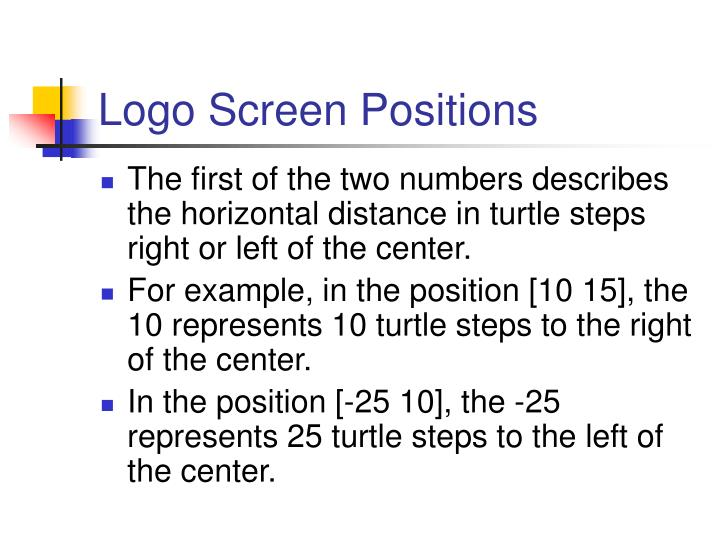 Logo Screen Positions