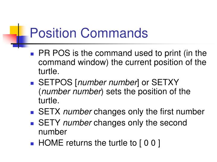 Position Commands
