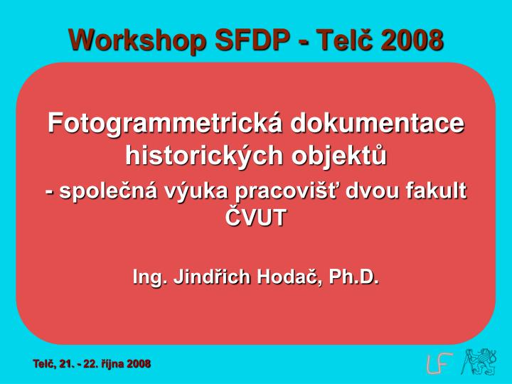 Workshop sfdp tel 2008