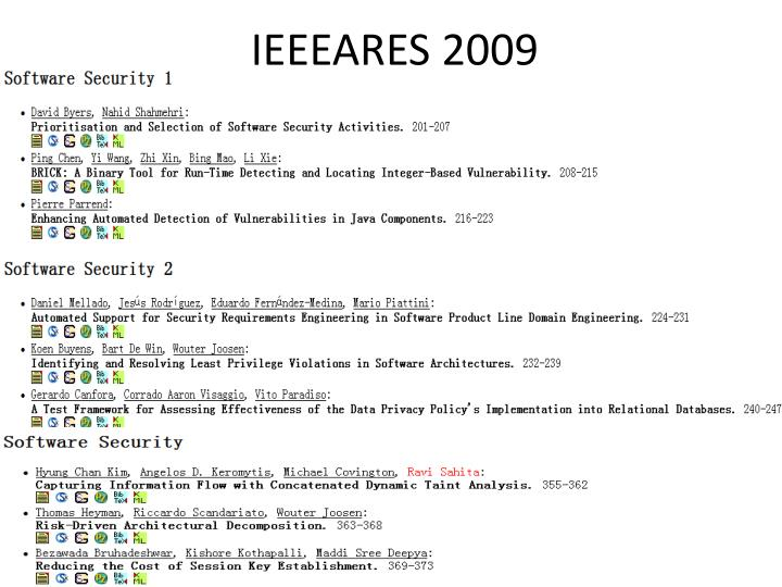 IEEEARES 2009