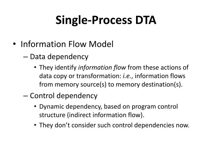 Single-Process DTA