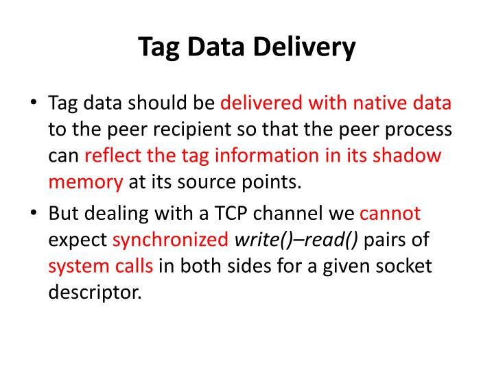 Tag Data Delivery