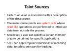 taint sources