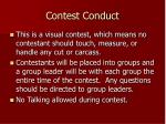 contest conduct
