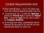 contest requirements cont