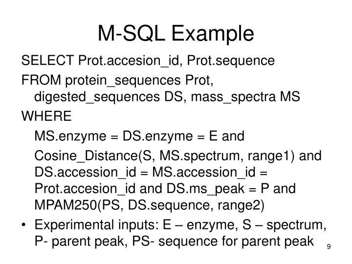 M-SQL Example