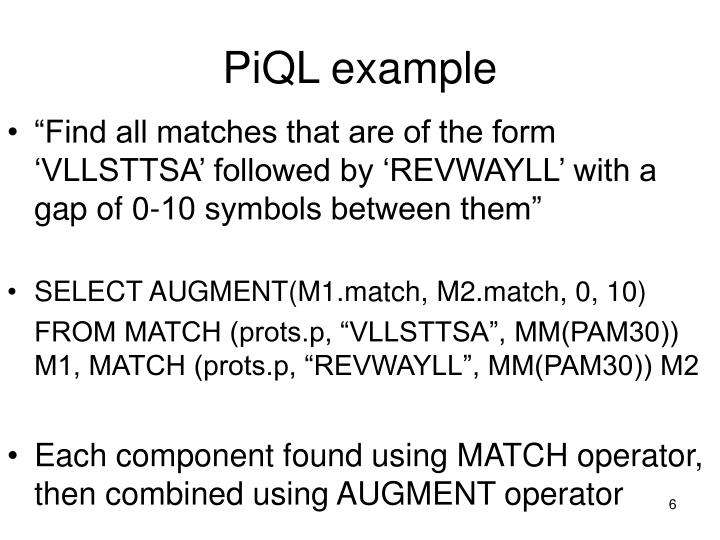 PiQL example