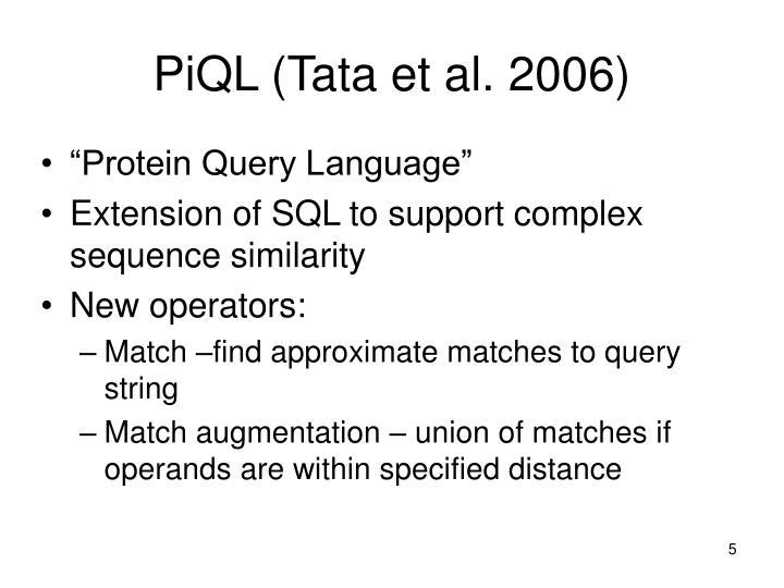 PiQL (Tata et al. 2006)