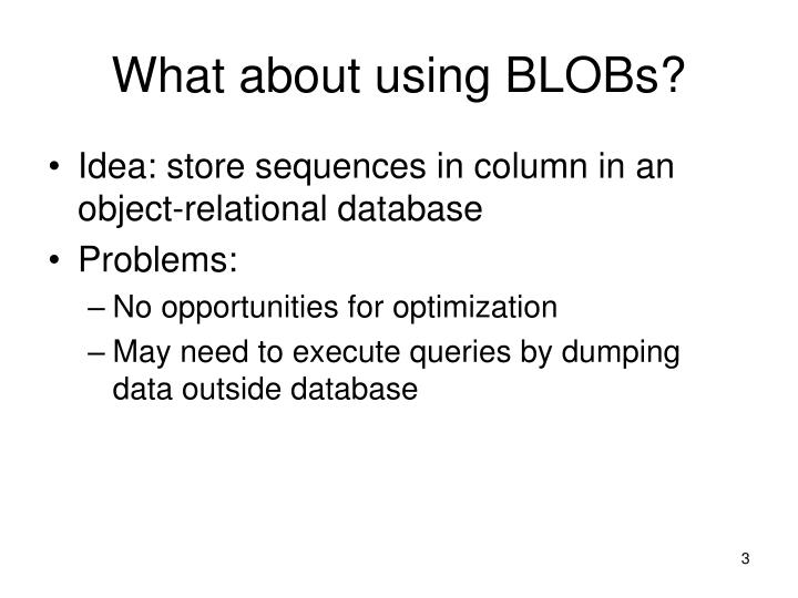 What about using blobs