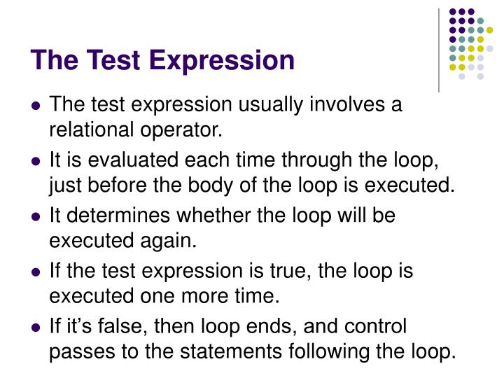 The Test Expression