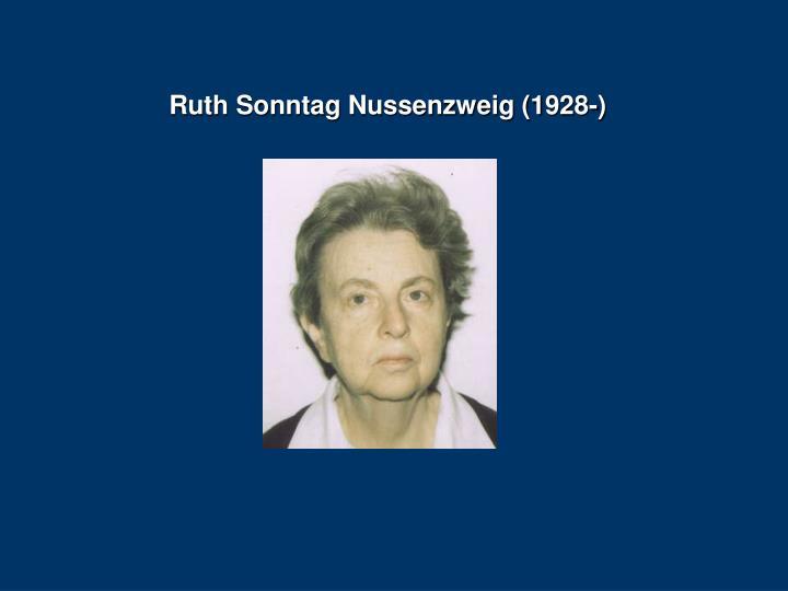 Ruth Sonntag Nussenzweig (1928-)