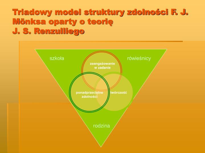 Triadowy model struktury zdolności F. J. M