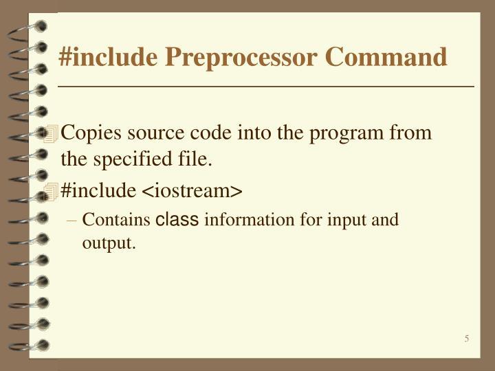 #include Preprocessor Command