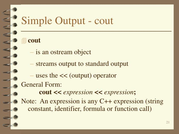 Simple Output - cout