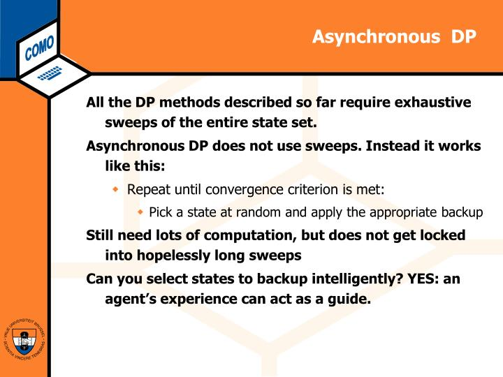 Asynchronous  DP