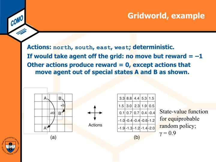 Gridworld, example