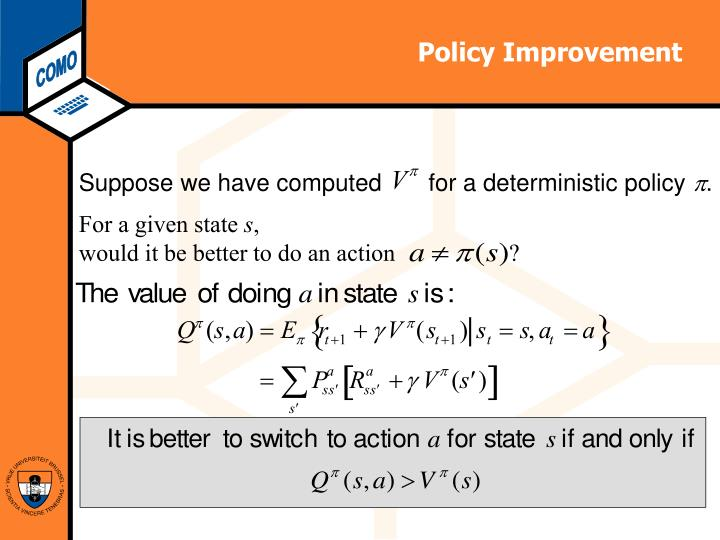 Policy Improvement