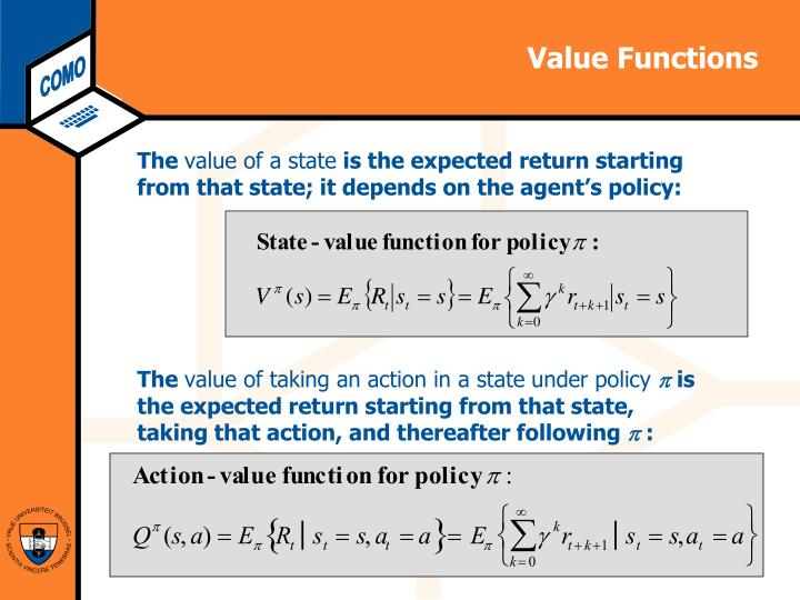 Value Functions
